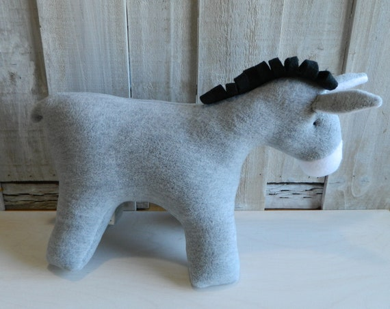 Plush donkey stuffed animal, farm animal plush toys, baby shower gift