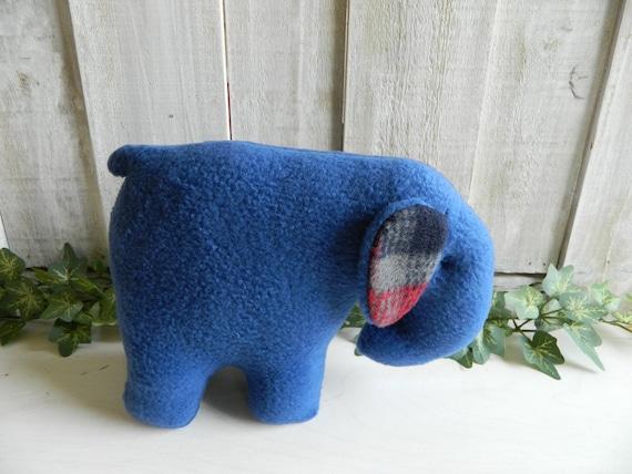 Small plush elephant stuffed animal, baby shower gift, plush zoo animals