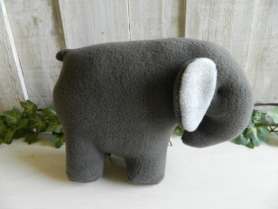 Small plush elephant stuffed animal, baby shower gift, plush zoo animals
