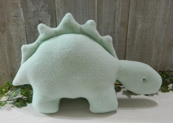 Mint green plush stegosaurus stuffed animal, toddler boy toy, toddler girl toy, dinosaur baby toy, dinosaur gift ideas, nursery decor
