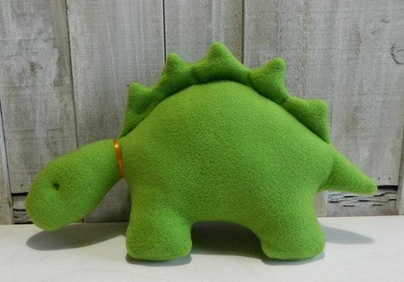 Lime green plush stegosaurus stuffed animal, toddler boy toy, toddler girl toy, dinosaur baby toy, dinosaur gift ideas, nursery decor