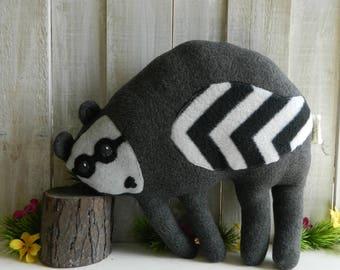Stuffed raccoon plush toy, plush stuffed animal, raccoon toy, gift for girls, gift for boys