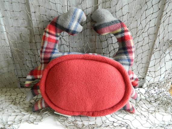 Cute crab stuffed animal, under the sea nursery decor, nautical baby shower gift