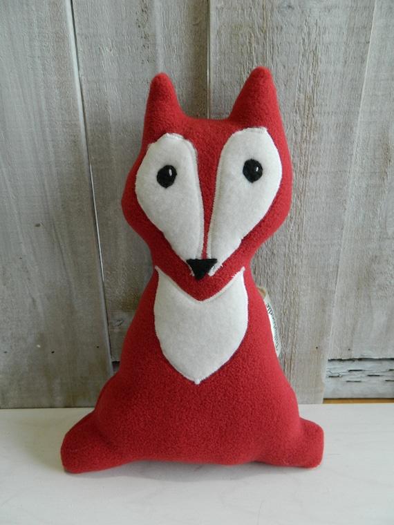 Small plush fox stuffed toy, baby shower gift, woodland stuffed animals, nursery decor