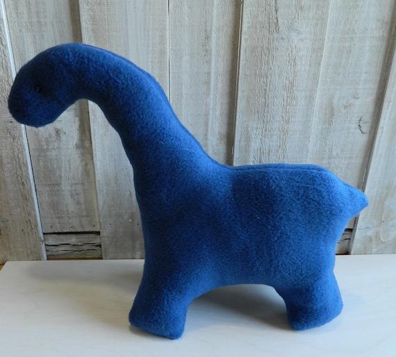 Blue brontosaurus plush stuffed animal toy safe for toddlers and baby, baby shower gift, dinosaur nursery decor