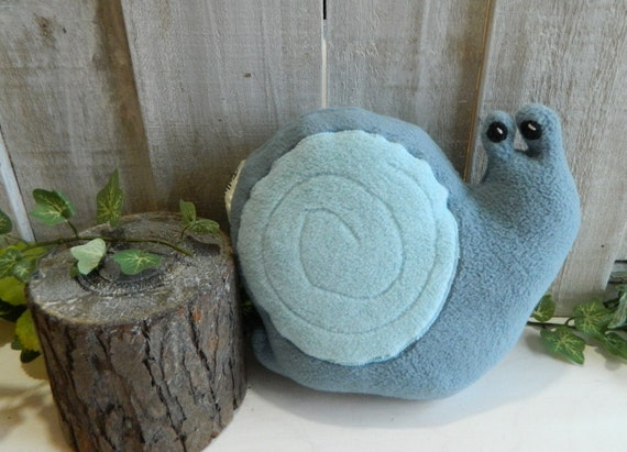 Plush snail stuffed woodland animal, baby gift, nursery decor, garden decor
