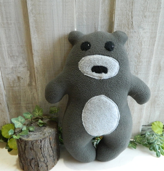 Stuffed plush teddy bear toy, woodland nursery decor, baby shower gift, bear stuffed animal