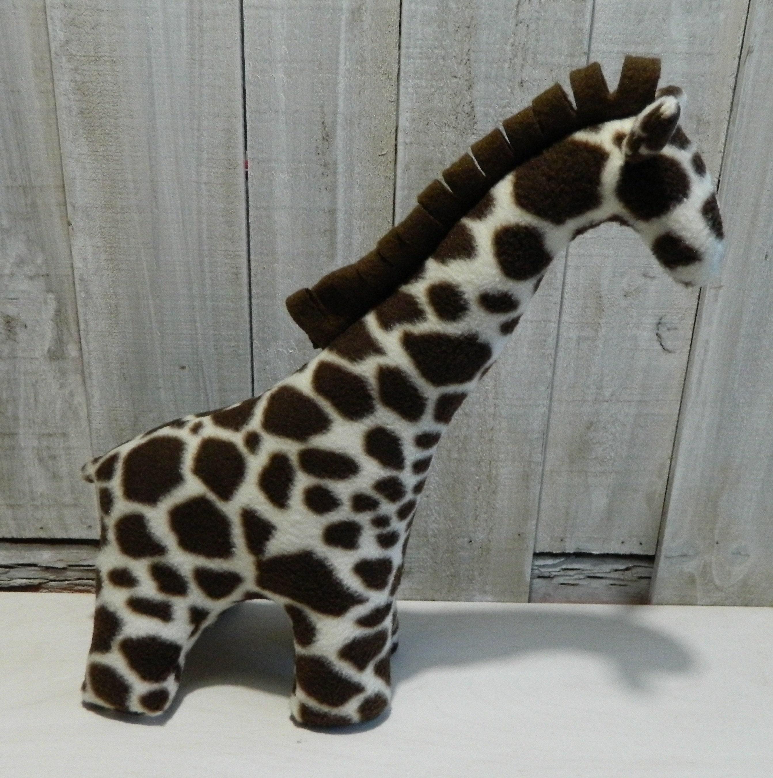 Small Stuffed Fleece Giraffe Toy Gift For Girls Gift For Boys