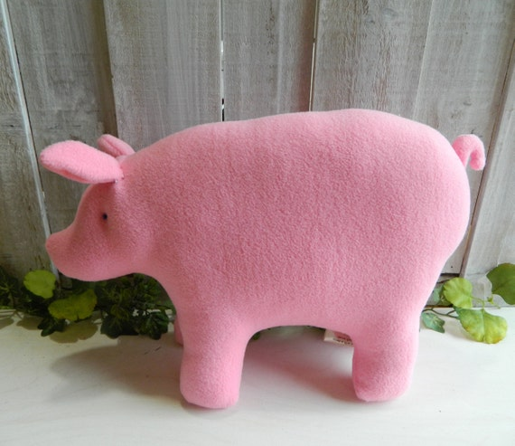 Plush pig stuffed animal, baby shower gift, farm animal nursery decor