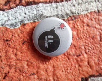 Personalised Custom Collectable Face Covering Exempt 25mm1 inch or 58mm2.5 inch button pin badge
