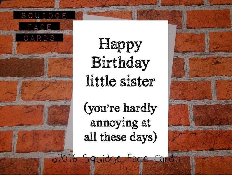 Brother Sister Birthday Card Happy Little