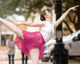Azalea Pink Katerina Leavers Lace Ballet Wrap Skirt: Made to Order | Adult Ballet Skirt | Elegant Dance Practice Skirt