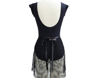 Custom Adult Ballet Wrap Skirt | Elegant Dance Practice Skirt | Alexandra Eyelash Chantilly Lace Ballerina Skirt in Choice of Color & Length
