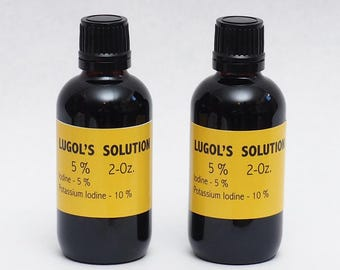 Lugols Iodine / 5% Solution / 4 Oz . in an Amber Glass Bottle