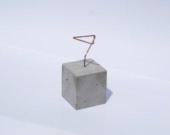 CONCRETE JUNGLE • CUBE • concrete copper air plant - planter - home decoration - gift