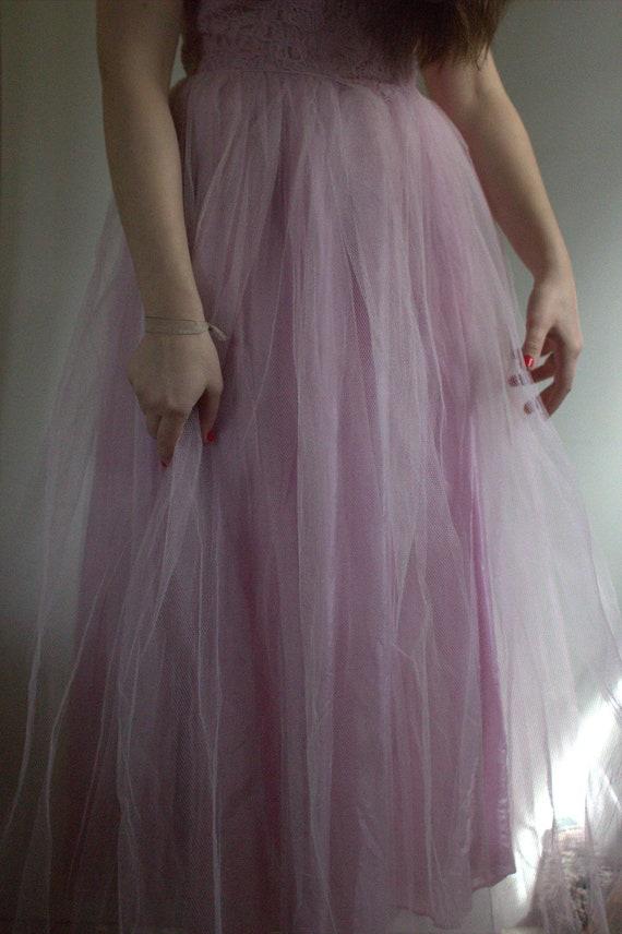 prom dress vintage / 1950s prom dress / vintage p… - image 9