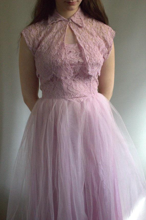 prom dress vintage / 1950s prom dress / vintage pr