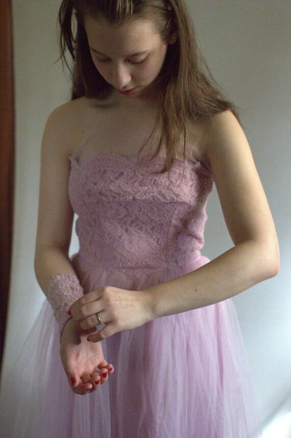prom dress vintage / 1950s prom dress / vintage p… - image 6