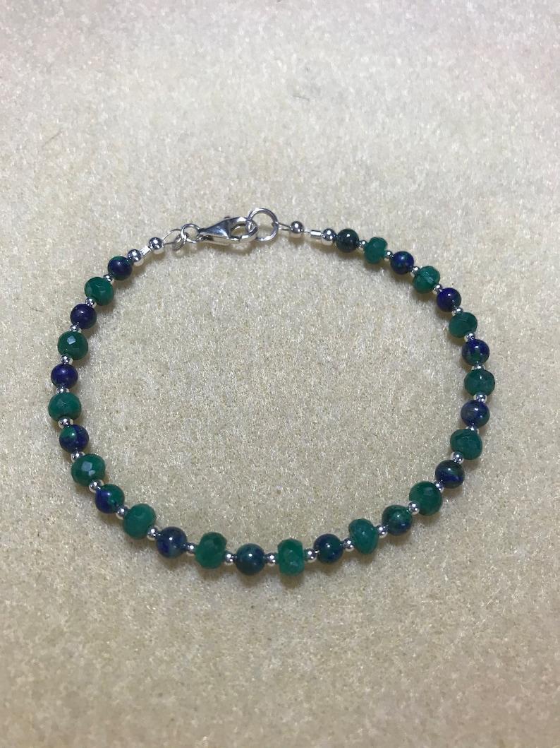 Azurite Bracelet Emerald
