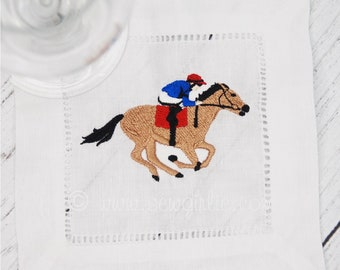 Kentucky Derby Cocktail Napkins/Holiday Gift/Hostess Gift/Personalized Gifts