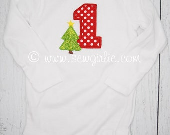 Preppy Personalized Monogrammed First Christmas Infant Body Suit/My First Christmas Onezie/Cute Newborn Christmas Gift/Baby Christmas Outfit