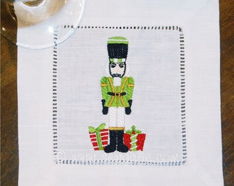 Christmas Nut Cracker Cocktail Napkins/Holiday Gift/Hostess Gift/Personalized Gifts