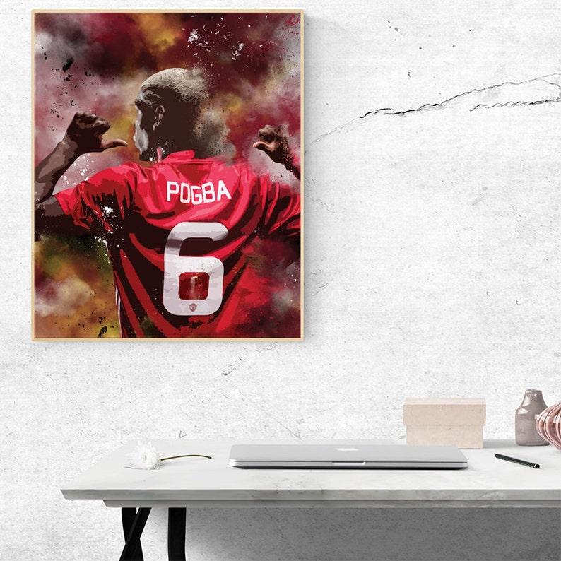 241a9bf862b41 Pogba Manchester United Portrait poster, Paul Pogba poster, Manchester utd  poster, Paul Pogba print, Man utd poster, Manchester Pogba