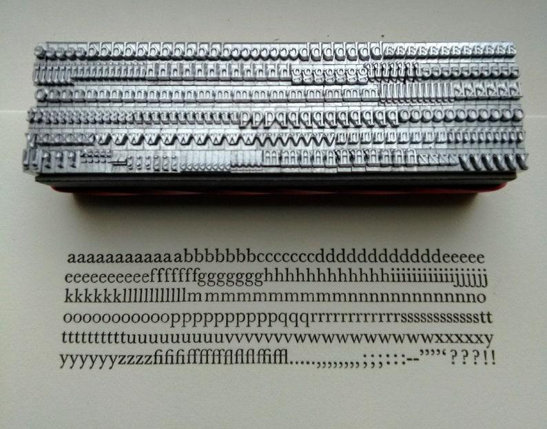 12 point BASKERVILLE LOWERCASE Roman Letterpress Metal Printing Type