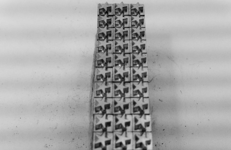 4 Letterpress Printing Metal Type Printer/'s Ornaments  Borders  Dingbats 30 x 12pt