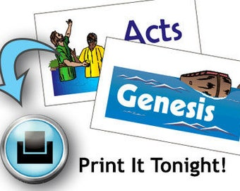 Books of the Bible Memory Card Game Printable