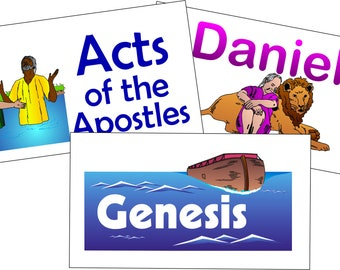 Printed Books of the Bible Flash Cards: Business Card Size