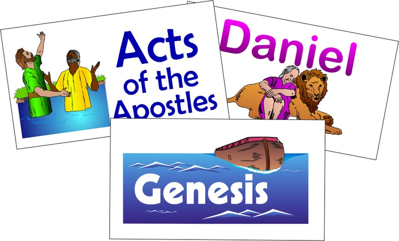 Printed Books of the Bible Flash Cards: Business Card Size image 0