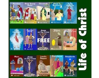 Life of Christ Bingo & Memory Game - Printable Download