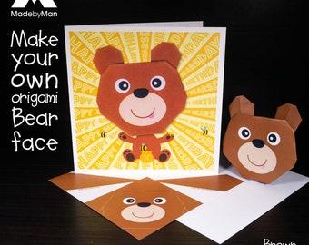 Easy Origami Bear - Panda Bear - Polar Bear - Brown Bear - Red Ted ...   270x340