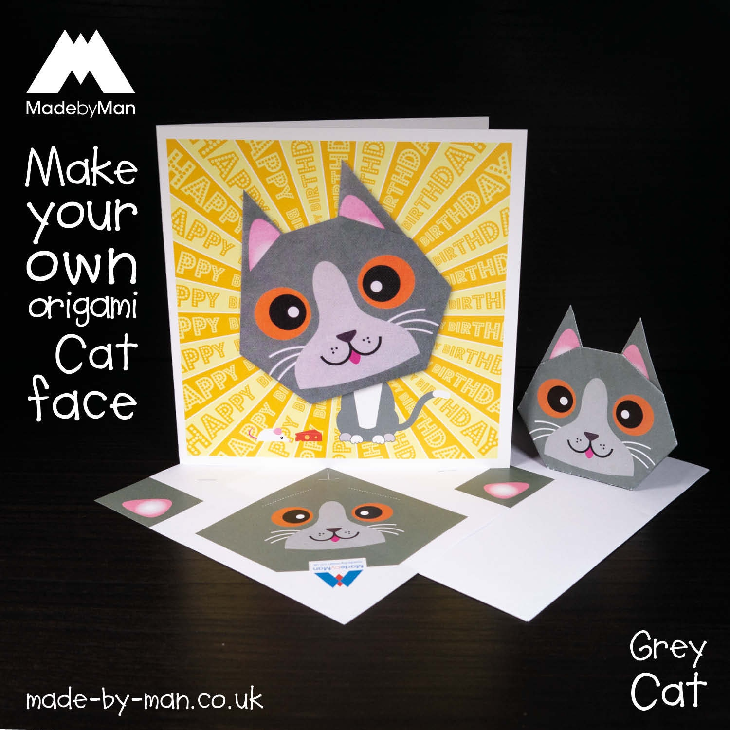 DIY Craft Paper : Origami Paper Cat Face | How to Make Cat Face ... | 1500x1500