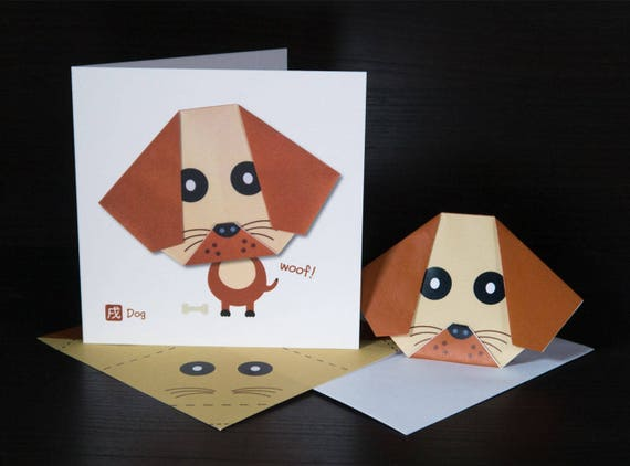 Origami DOG easy | DIY paper crafts FOR KIDS Origami DOG face ... | 422x570