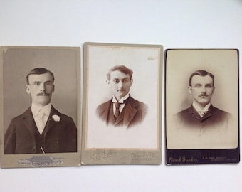 Old Cabinet Card Portraits (3)