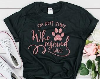 2e0dbb25cb30 Rescue Mom Shirt - Rescue Dog Shirt - Rescue Dog Mom - Animal Rescue Shirt  - Dog Mom Gift - Adopt Don't Shop - Dog Rescue Mom