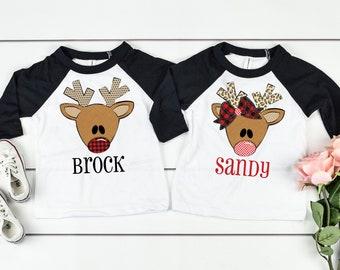 Christmas Shirt for Kids, Toddler Christmas Shirt, Christmas Shirt Youth, Reindeer Shirt, Personalized Christmas Shirt