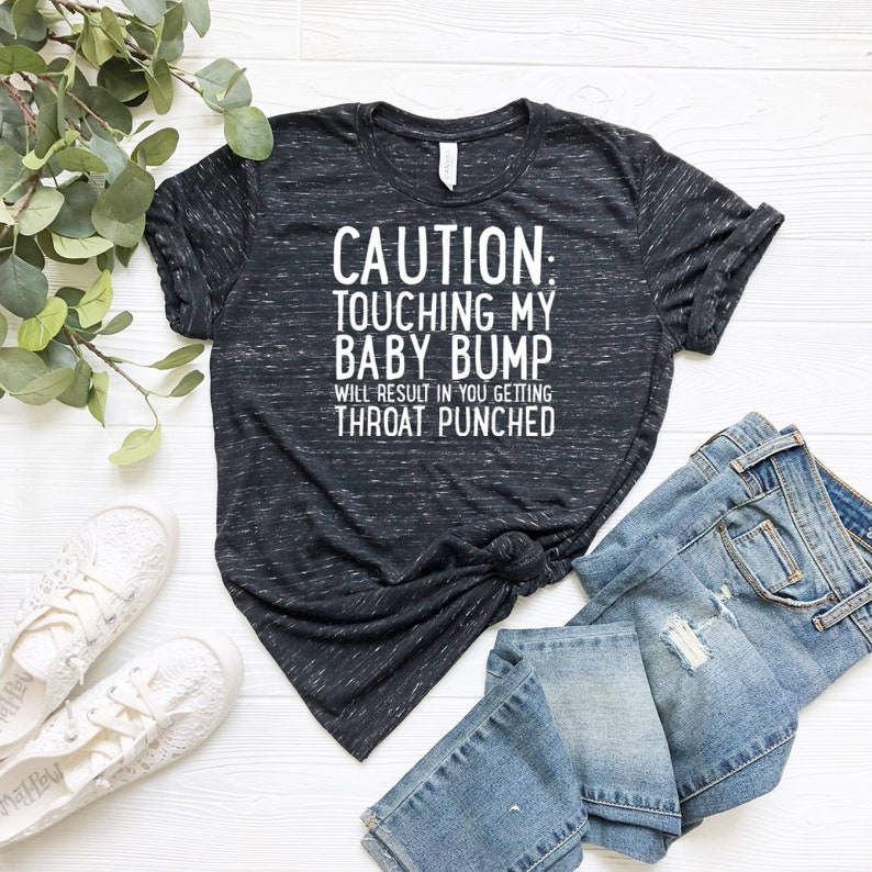 f6d211a6c1d CAUTION Maternity Shirt Funny Maternity Tops Funny | Etsy