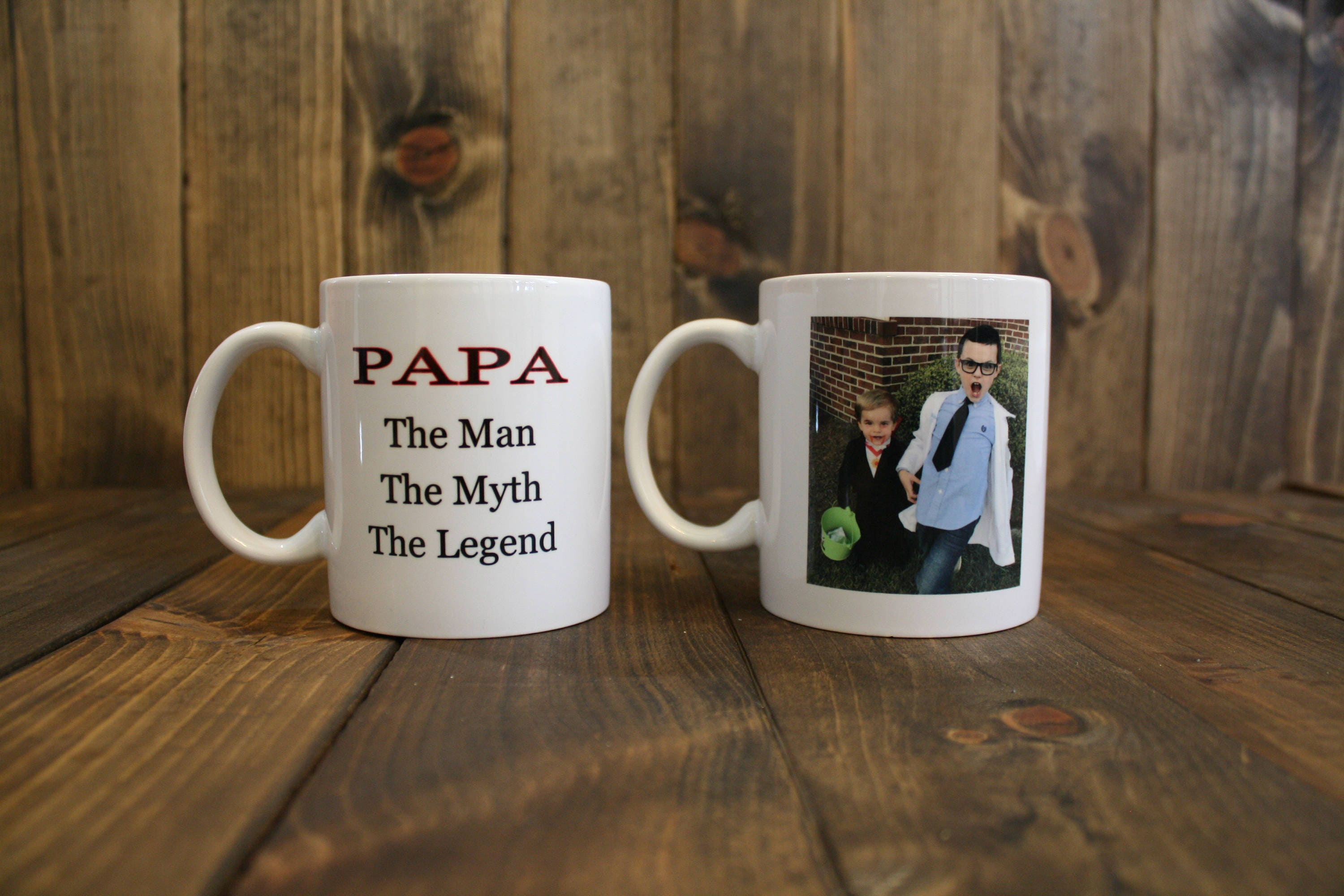 d059c213aabc Papa The Man The Myth The Legend Coffee Mug - Father s Day Coffee Cup -  Papa Cup - Grandfather Mug - Personalized Mug - Picture Cup