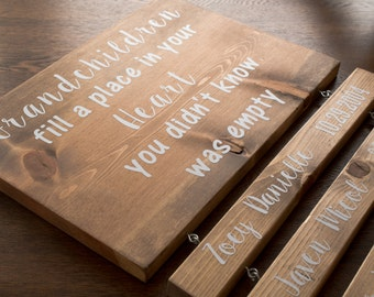 Additional Name Boards for Custom Made Grandparents Signs