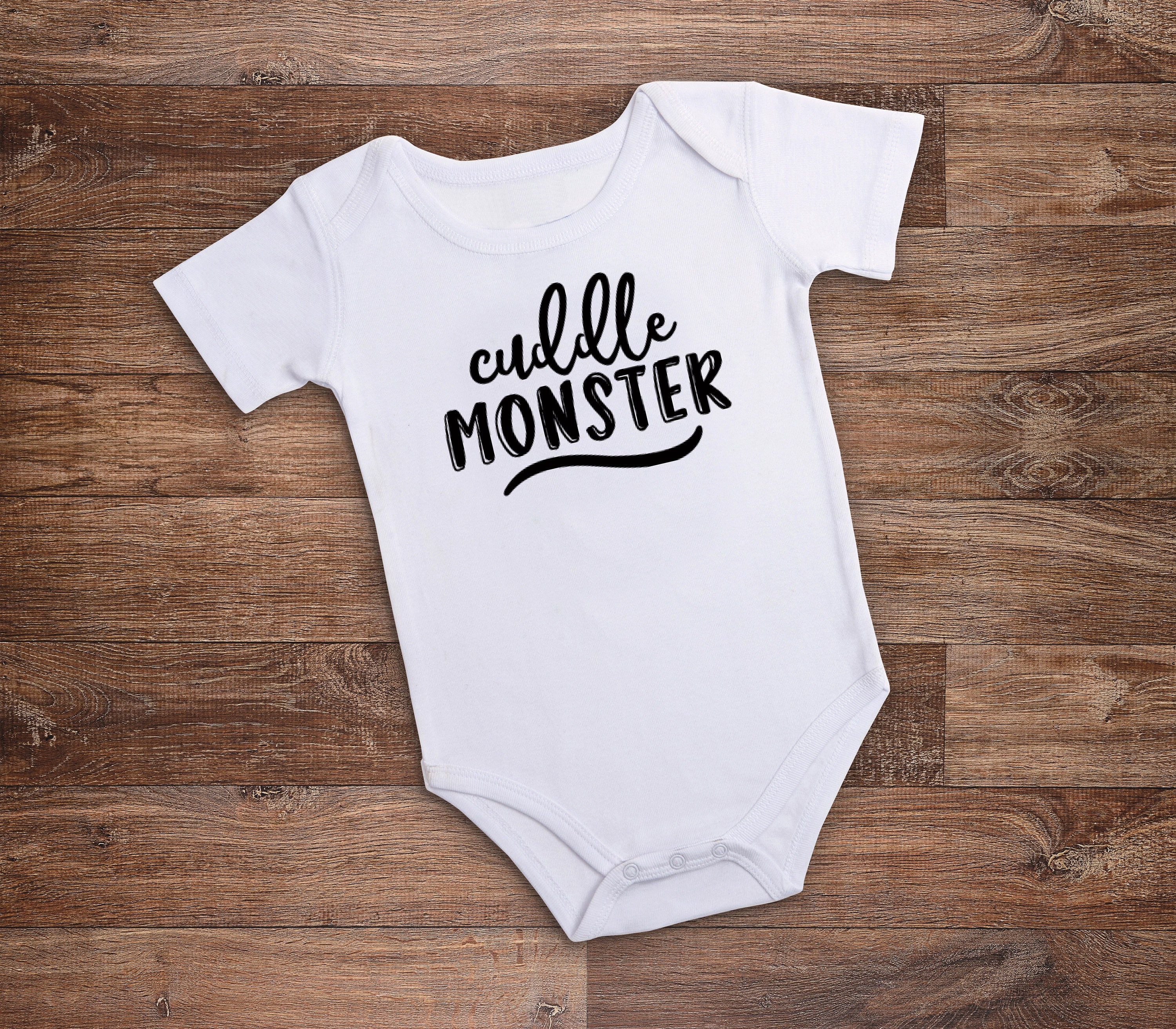 Cuddle Monster Funny Bodysuit Funny Baby Creeper Funny Baby