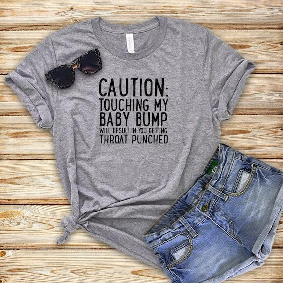 c17e4296b3f7f CAUTION Maternity Shirt Funny Maternity Tops Funny | Etsy