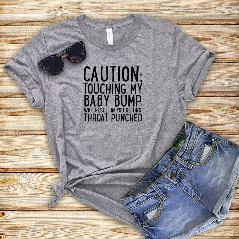 ced6d9b2a0c CAUTION Maternity Shirt Funny Maternity Tops Funny
