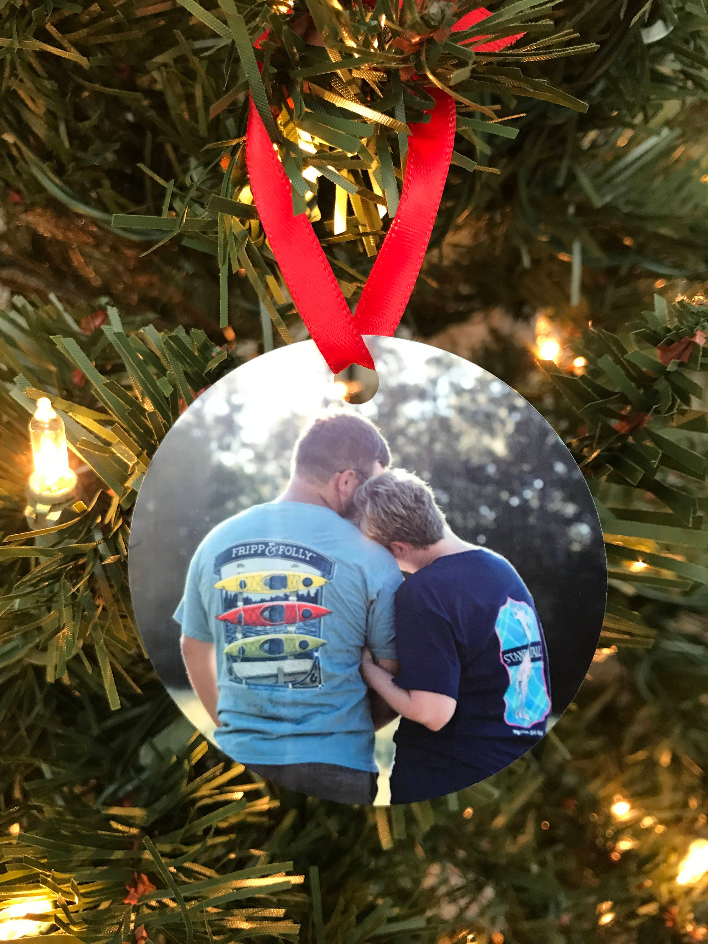 Custom Christmas Ornament - Photo Ornament - Personalized Ornament ...