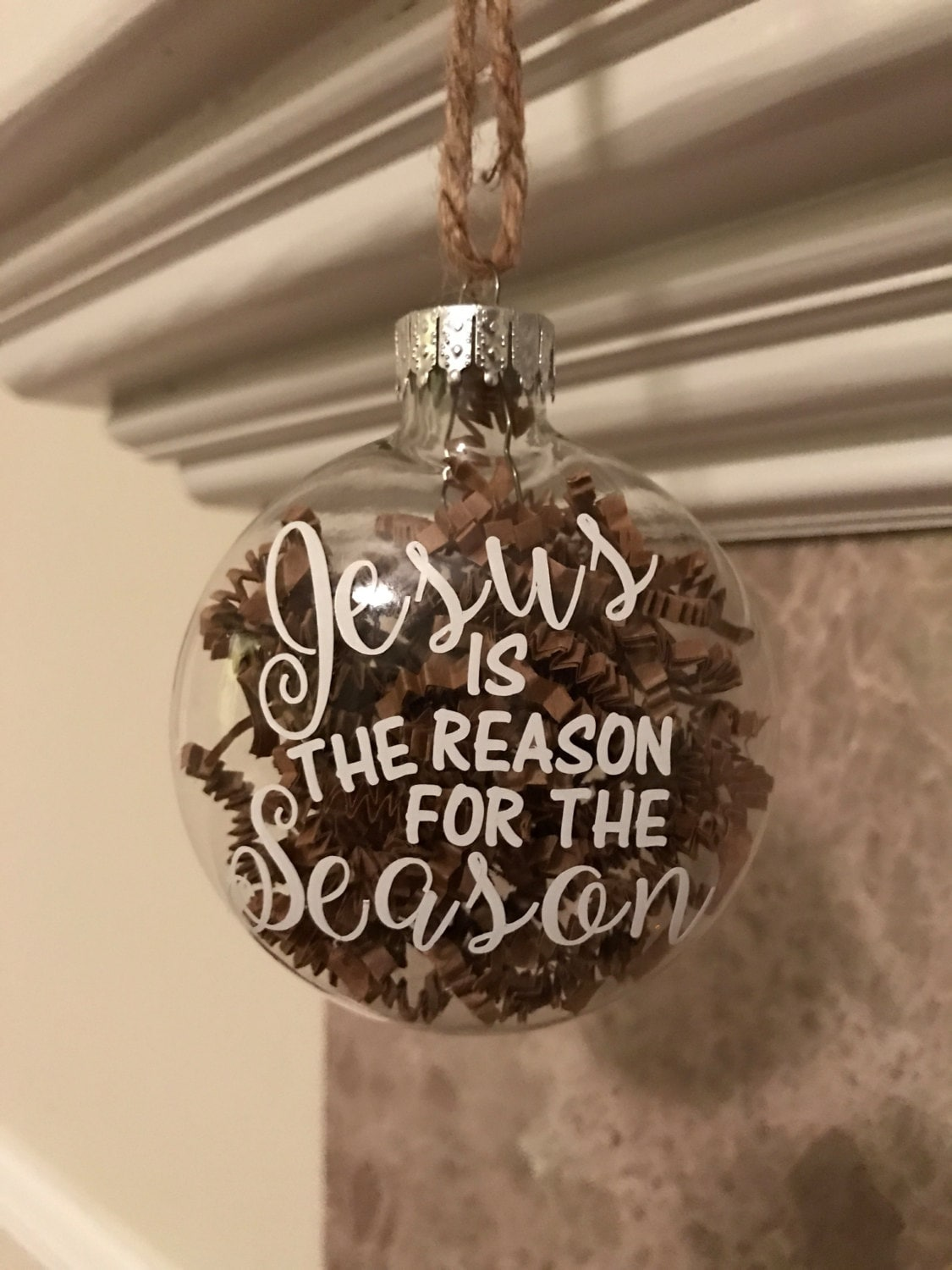 Jesus is the Reason for the Season Glass Christmas Ornament ...