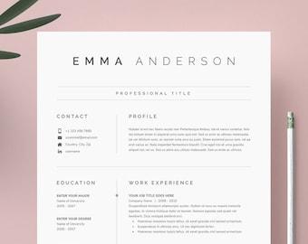 Modern resume | Etsy