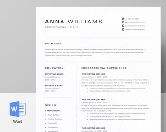 Modern Resume Cv Templates For Word Pages Google By Demedesign