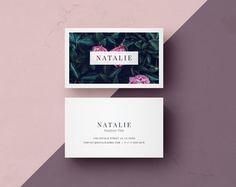 Business card template etsy business card template design microsoft word and photoshop files instant digital download classy accmission Images